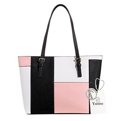 e568908d02982 Yoome Kontrast Farbe Tote Purses Für Frauen Mädchen Taschen Für Bulk  Dokumente Beutel Casual Handtaschen -