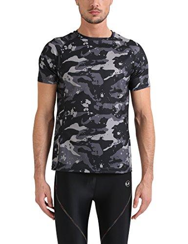 Lower East Camiseta Hombre, Multicolor (Schwarz/grau/hellgrau Schwarz/grau/hellgrau), X-Large