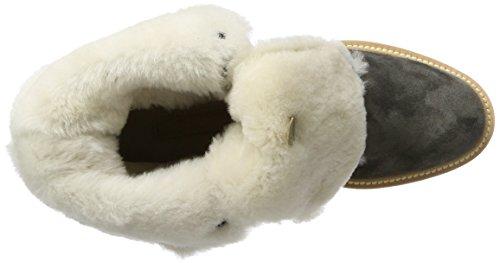 Kennel und Schmenger Schuhmanufaktur Damen Joe Combat Boots Grau (Antracite Sohle Grau)