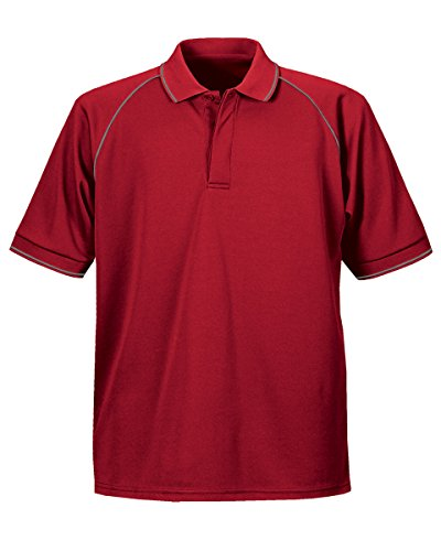 Stormtech Herren Mojave Coolmax Sport UV Wear Herren Polo-Shirts, Baumwolle, - Red/Iron