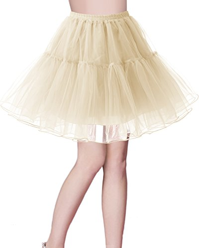 Petticoat Rock 1950er Vintage Tutu Ballett Unterkleid Champagne S ()