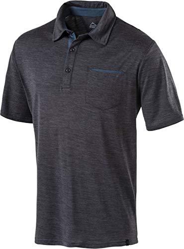 McKINLEY Herren Henderson II Poloshirt, Melange/Anthracite, XXL -