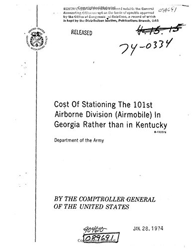 Cost of Stationing the 101st Airborne Division (Airmobile) in Georgia Rather Than in Kentucky (Division 101st Airborne)