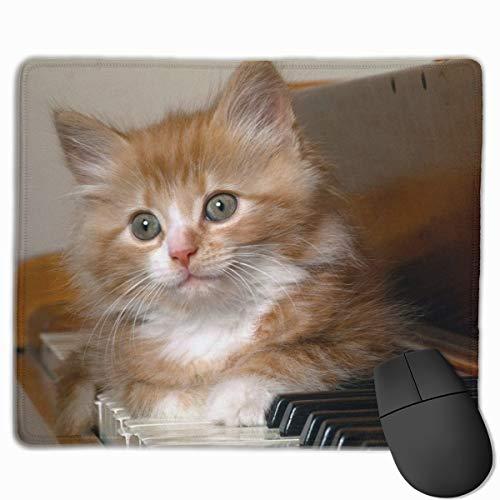 Mauspad mit Kitty Maulkorb und Schlüssel, flauschig, rutschfest, Gummi, für Zuhause und Büro, 24,8 x 30 cm