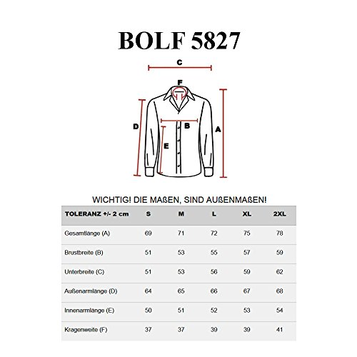 BOLF - Chemise casual – manches longues – BOLF 5827 - Homme Noir