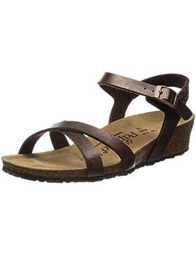 Papillio Alyssa Birko-Flor Damen Knöchelriemchen Sandalen mit Keilabsatz