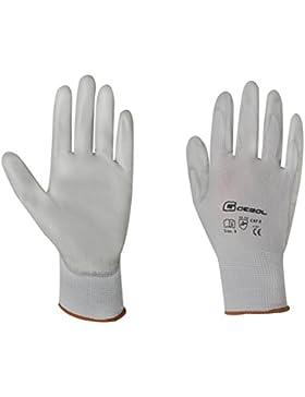 Gebol Arbeitshandschuh Micro-Flex Gr 10 aus Nylon mit PU-Beschichtung, grau, 528914