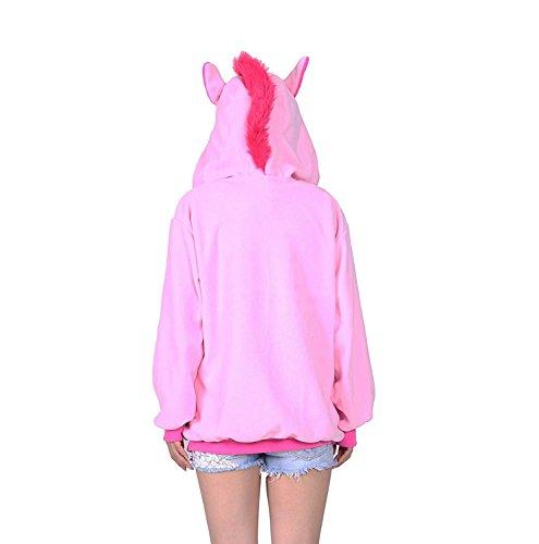 KiKa Monkey Cosplay Einhorn Tier Hoodie Jacke Pullover Party Kostüm Rosa