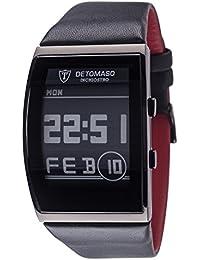 DETOMASO Herrenuhr Quarz Edelstahlgehäuse Lederarmband Mineralglas INCHIOSTRO Ink Paper Watch Trend mehrfarbig/schwarz DT2035-B