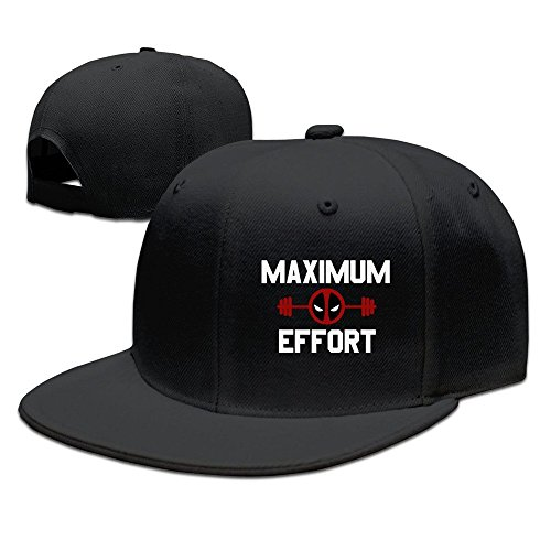 isex Fashion Cool Adjustable Snapback Baseball Cap Hat One Size Black ()