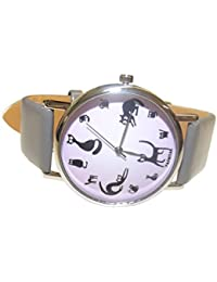Mauve de gris farbene Reloj de pulsera The Time Is Meow