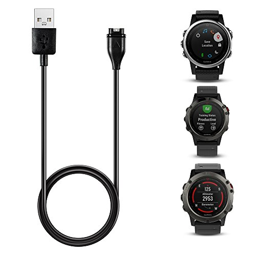 TUSITA Charger For GARMIN Fenix 5 / 5S / 5X / Forerunner 935 , Replacement USB Charging Cable Wire Charge Cord For GARMIN GPS Watch Test