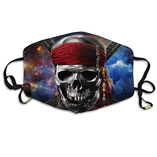 Captain Skull Face Mouth Mask Unisex Polyester Comfy Anti Dust Masks Captain Fleece