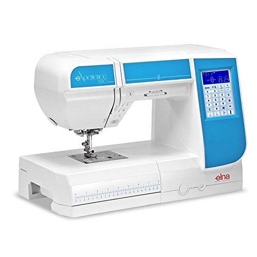 Máquina de coser Elna Experience 580con 21cm pulsera rendimiento y programas de punto de 120