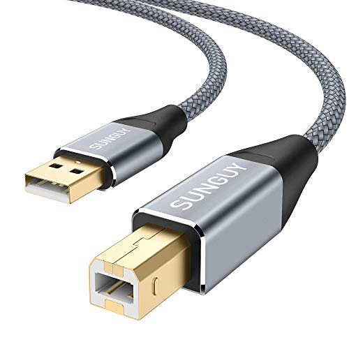 Sungue USB-Druckerkabel, USB 2.0 A Stecker auf B Stecker, kompatibel mit HP, Cannon, Brother, Dell, Huax, Lexmark, Samsung und mehr - Hp-lexmark-drucker-toner