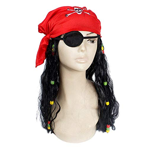 Qiao Nai Pelucas Pirata Cos Piratas Caribe Bandana