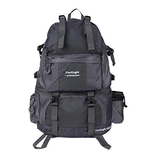 Galaxy Womens Rucksack (Freeknight 40 l großer Camping-Rucksack/Wanderrucksack/Reiserucksack, legere Tasche für Camping, Wandern, Radfahren, Bergsteigen, Outdoor, Sport grau)