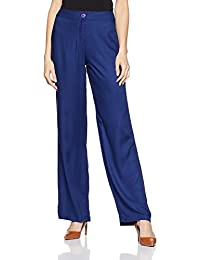 global desi Women's Straight Fit Rayon Pants