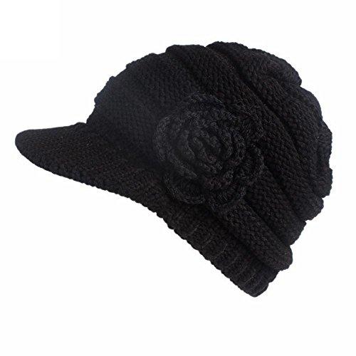 TEBAISE Strickmütze mit Schild Winter Strickmütze Beanie Cap Unisex Hüte Hut Mützen Sturmhauben Strickmützen Baseball Caps