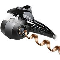 Planchas rizadores, iFanze Pinzas Rizadoras, Rizador de Pelo Automático de Vapor, con 3 Temperatura Ajuste, 3 Tiempo Ajuste, Consigue Rizos, Bucles y Todo Tipo de Ondas, Negro