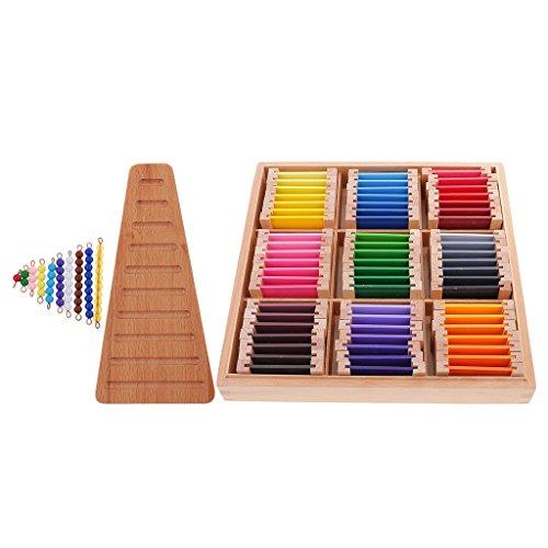 Descripción:       - Juguete de madera Montessori Materials - Big Color Box    - Big Box con 63 cartas de colores, en nombre de los nueve colores rojos, amarillos, azules, naranjas, verdes, morados, marrones, rosas, grises, cada color se divi...