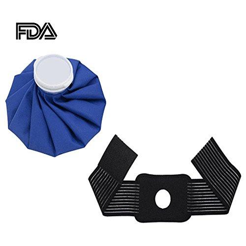 Ice Cold Pack, flexible wiederverwendbar Hot kalt Therapie Wrap Gel Ice und Wärmekompresse Pack mit Gurt für Muskeln, Verletzungen, Rücken, Hals Schmerzen, Knie, Knöchel, Waden, Ellenbogen Schmerzlinderung