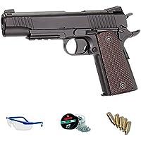 M45 A1 PACK KWC Pistola de aire comprimido (CO2) y balines de acero (perdigones BBS) calibre 4.5mm. Réplica Colt M45 <3,5J