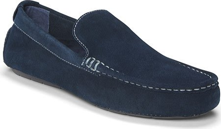 Vionic Mens Parker Orthotic Slip On Moc Toe Loafer Shoes (8 D(M) US, BLACK) Navy