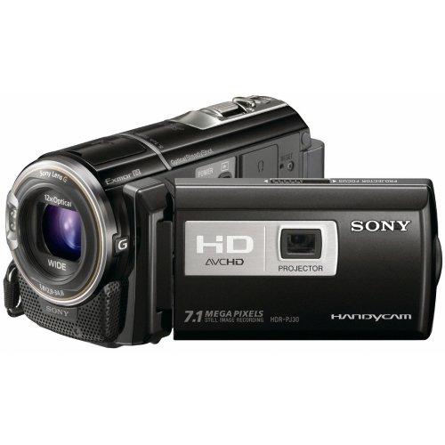 Sony HDR-PJ30VE Full HD Camcorder (12-fach opt. Zoom, 30 mm Weitwinkel, 32 GB interner Flash-Speicher, GPS Kartenindex) mit integriertem Projektor schwarz