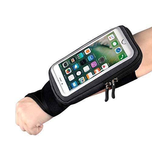 Yigouu Sportarmband Unterarm-Band, Fahrradhalterung, Handy-Halter, Tasche mit Schlüsselkarte Bargeldhalter für Radfahren, Joggen, Training, für Smartphone bis zu 15,2 cm