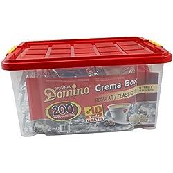 DOSETTES DE CAFE COMPATIBLES SENSEO ® DOMINO REGULAR BOITE REUTILISABLE 200 + 10 GRATUITES