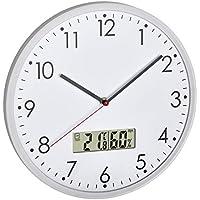 TFA Dostmann 60.3048.02 - Reloj de pared analógico con termómetro digital e higrómetro (