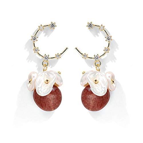 AIERSHI Süßwasser Perle Ohrringe Für Frauen Einfache Online Promi Ohrring Modeschmuck Ohrringe Zubehör