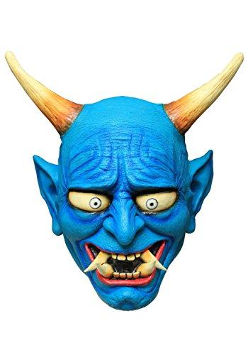 Generique - Masque démon Oni Bleu
