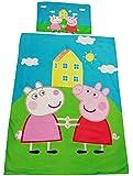 Kinder Heimtextilien, Bettwäsche-Set mit Peppa Wutz & Luzie Locke, aus 100% Baumwolle, Oeko-TEX