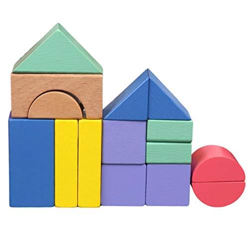 Prevently Toy Bloque de Juguetes para niños, Creativo, 15 Piezas de Madera, Bloques de arcoíris para el Aprendizaje temprano, Juguetes educativos, Juguetes y Regalos