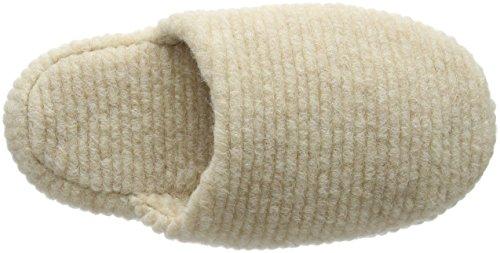 Woolsies - Waffle Natural Wool Mule, Pantofole Donna Beige (Beige (Beige))