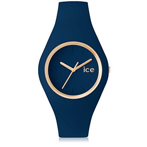 Ice-Watch - ICE glam forest Twilitght - Blaue Damenuhr mit Silikonarmband -...