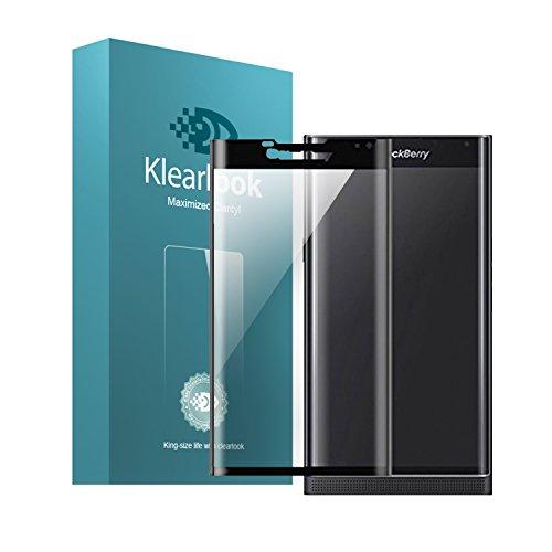 Protector de Pantalla Blackberry Priv, Klearlook® 3D Curve Fit Protector de pantalla de vidrio templado de cobertura completa para BlackBerry Priv [Marco Negro]