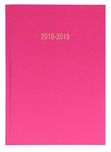 A5akademischer Kalender 2018–2019week-to-view besetzt rosa - deep pink