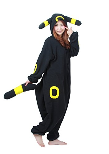 Engerla Pyjama/combinaison noir, costume Halloween motif animal, cosplay pour adulte noir Umbreon grand