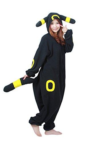 Umbreon Cosplay Kostuem mit Kapuze Unisex erwachsenen Pyjamas X-Large (Wahnsinnige Kostüme)
