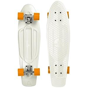 Ridge Skateboards 27' Mini Cruiser Skateboard completo, Glow in the Dark, Incandescente, Arancione