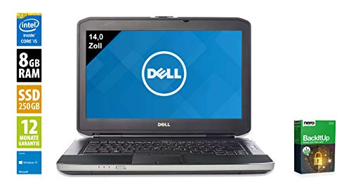Dell Latitude E5430 | Notebook | Laptop | 14,0 Zoll (1366x768) | Intel Core i5-3340M @ 2,7 GHz | 8GB DDR3 RAM | 250GB SSD | DVD-Brenner | Windows 10 Home (Zertifiziert und Generalüberholt)