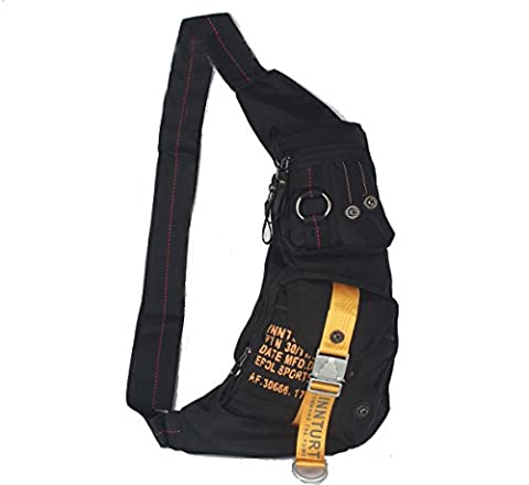 Innturt Bodybag-Rucksack, Nylon - Medium-Black (Multi Strap Sling)