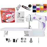Kiwilon Mini Sewing Machine for Home Tailoring with Table, Foot Pedal, Sewing Kit, Foot Pedal and Power Adapter