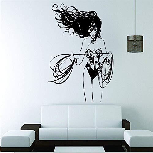 Zxfcccky Wandtattoo Vinyl Aufkleber Dc Super Hero Wonder Frau Wandbild Für Mädchen Kinderzimmer Haus Dekoration Design Decor Poster Größe 42 * 48 Cm