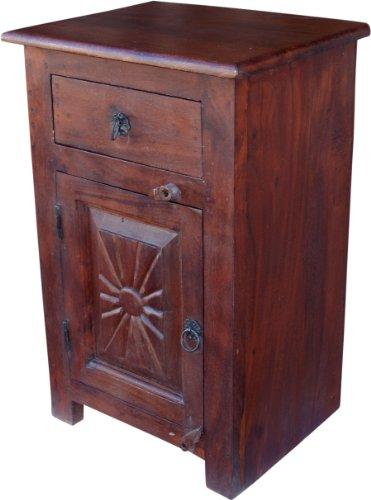 Guru-Shop Armoire Latérale, Commode, Commode, Table de Chevet de Style Colonial, 64x40x30 cm, Casiers