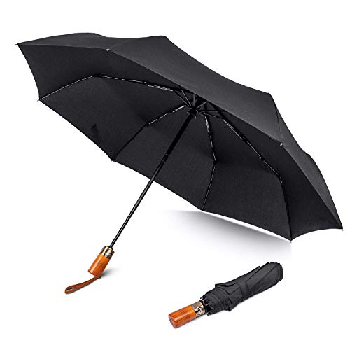 Regenschirm boy  Automatik Taschenschirm 8 Edelstahl-Rippen windsicher Schirm, sturmfest bis 140...