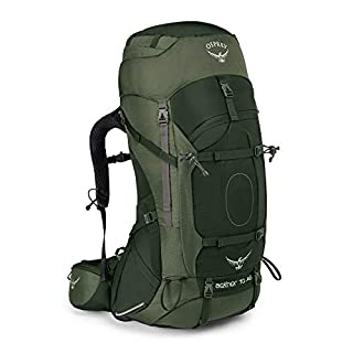 Osprey Aether AG 70 Men's Backpacking Pack -  Adirondack Green (LG)